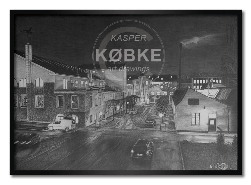 Kasper Købke håndtegnede værker