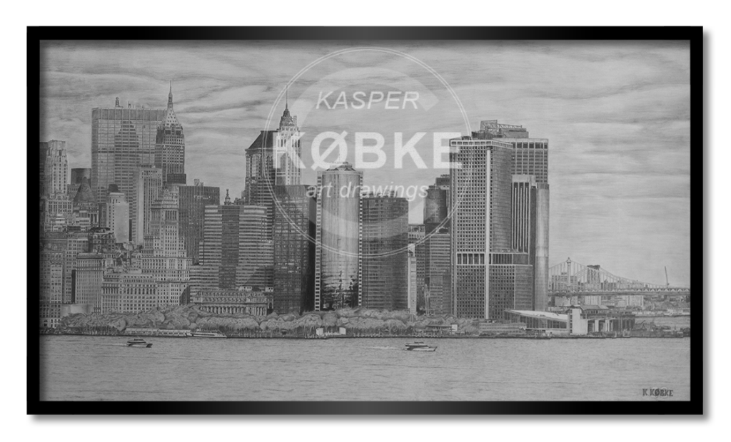 Kasper Købke Skyline - håndtegnet værk